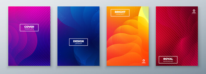 Minimal modern cover design. Dynamic colorful gradients. Future geometric patterns. poster template vector design. Fototapete