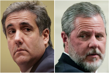 Combination of file photos of Michael Cohen and Jerry Falwell Jr. in Washington