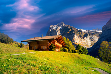 Wall Mural - traditional alpine houses