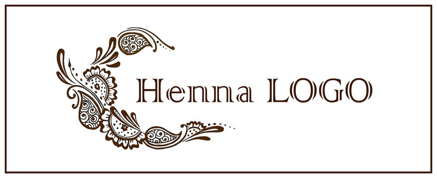 Henna logo. Mehendi drawing. illustration of mehndi