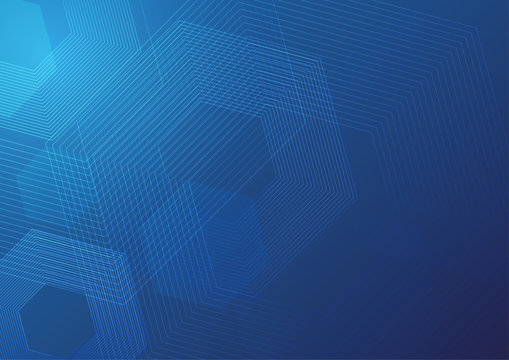 Abstract blue color technology background vector illustration.