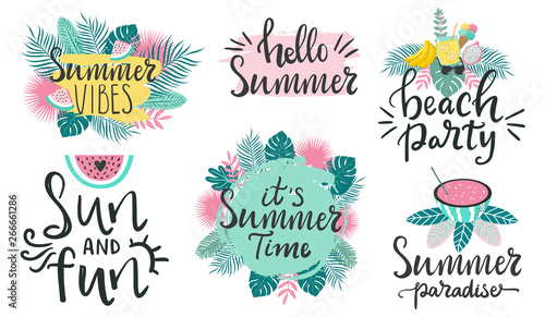 Collection of summertime typography quotes about summer ...
