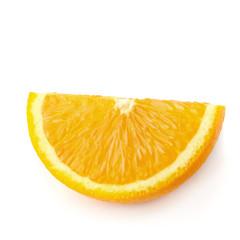 Fresh Sliced oranges isolated on white background