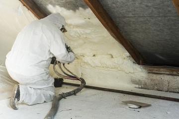 Obraz spray polyurethane foam for roof - fototapety do salonu