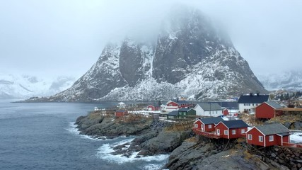 Fotomurales - Hamnoy village on Lofoten Islands, Norway
