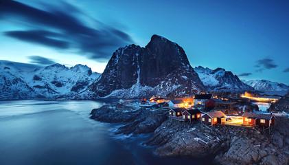 magische Nacht auf den Lofoten