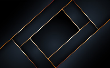 Black abstract layer geometric illustration background