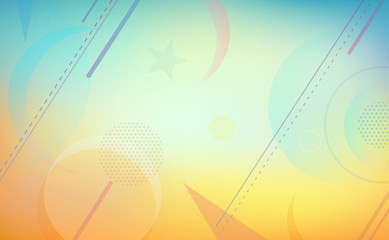 Colorful Geometric Background for Summer and Holiday Vector Illustration