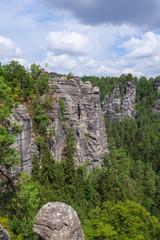 Felsenformtaion im Basteigebirge in der sächsischen Schweiz bei Rathen