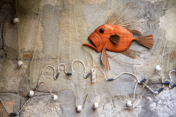 Funny interior design ideas. Fish on the wall