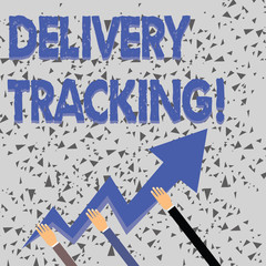 e3733bb0e303d Word writing text Delivery Tracking. Business photo showcasing the process  of localizing shipping containers and