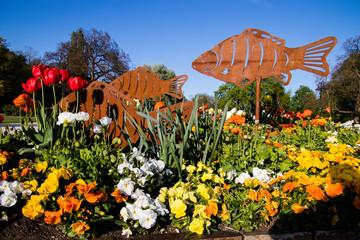 Blumenanlage im Europapark Klagenfurt am Wörthersee Fotoväggar
