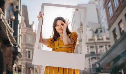 Wall Mural - Pretty woman posing for a portrait