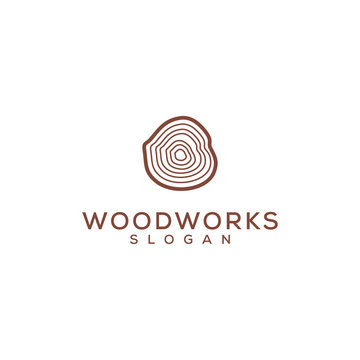 wood work vector logo design