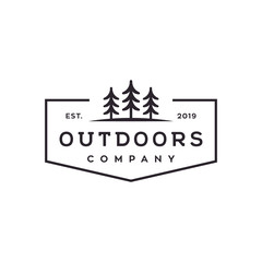 outdoor tree vector logo design