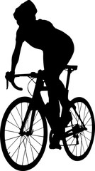 Foto op Plexiglas Art Studio Cycling 2 isolated vector silhouette