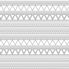 Deurstickers Boho Stijl Seamless vector decorative ethnic pattern with geometric ornaments. Background for printing on paper, wallpaper, covers, textiles, fabrics, for decoration, decoupage, scrapbook and print.