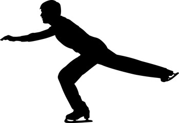 Figure Skating Men 6 isolated vector silhouette