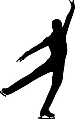 Figure Skating Men 3 isolated vector silhouette