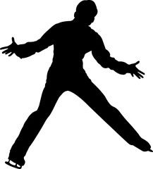 Figure Skating Men 5 isolated vector silhouette