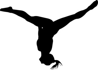 Gymnastics Women 7 isolated vector silhouette