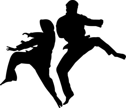 Silat 1 isolated vector silhouette