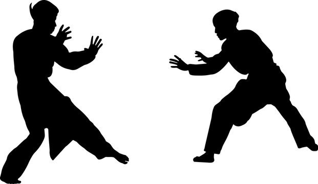 Silat 7 isolated vector silhouette