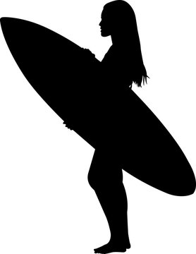 Surfing 8 isolated vector silhouette