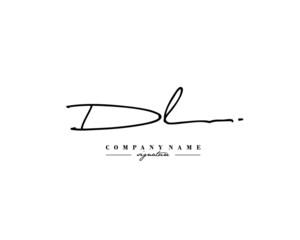 Fototapeta D L DL Signature initial logo template vector obraz