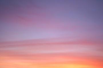 Aluminium Prints Heaven Colorful and beautiful sky at sunrise