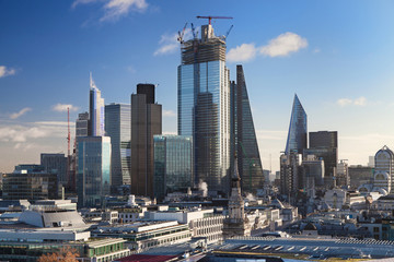 Skyscrapers of The City in London