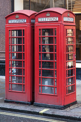 Two Red Telephone Boxes
