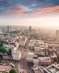 Foto op Canvas Brussel Aerial view of the Royal Square in Brussels, Belgium
