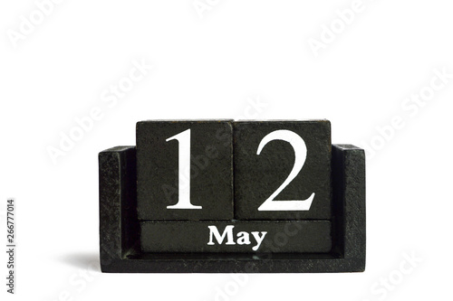 Mothers Day Card with calendar isolated on white background and copy space