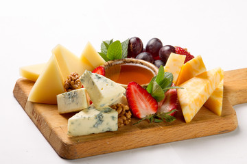 several kinds of cheese
