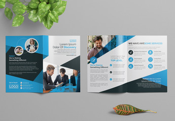 Simple Brochure Layout with Blue Accents