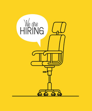office chair with we are hiring message