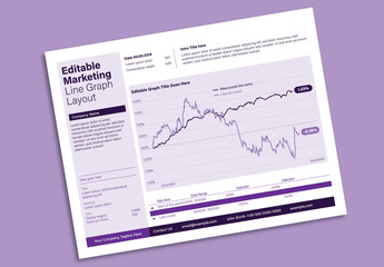 Editable Infographic with a Sidebar, Line Graph, and Purple Accents