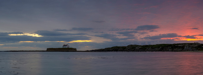 'The Church in the Sea' at Porth Cwyfan, Anglesey