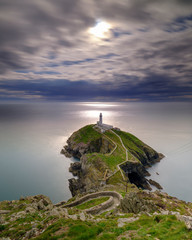 South Stack Lighthouse on Anglesey, Wales UK.