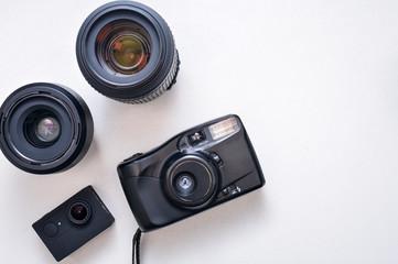 Camera kit, lenses and vintage camera body