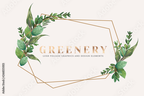 Greenery Wallpaper Stock Image And Royalty Free Vector