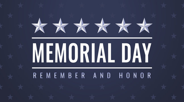 US Memorial Day - Remember and Honor flyer