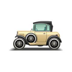 Realistic Cute Classic Car design vector template. Cute Retro Car icon isolated. - Vector