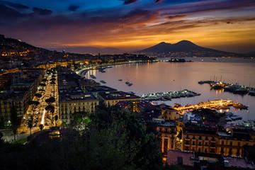 Türaufkleber Neapel October Sunrise