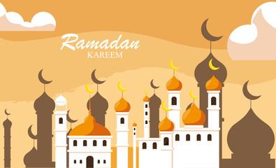 ramadan kareem mosque building traditional
