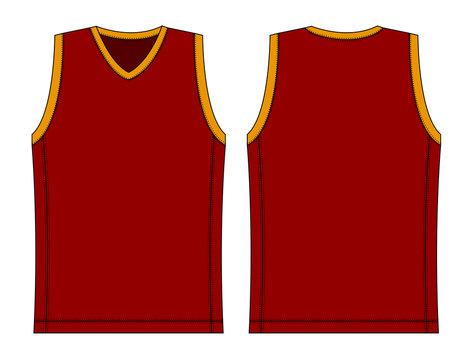 tank top / basketball uniform template illustration