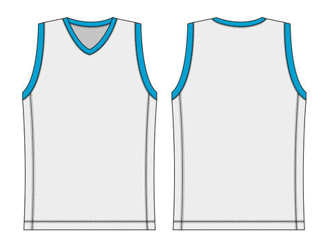 tank top / basketball uniform template illustration