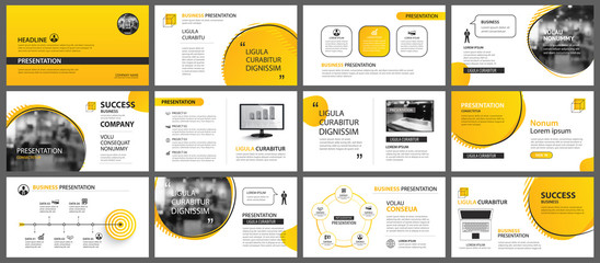 Presentation and slide layout background. Design yellow and orange gradient geometric template. Use for business annual report, flyer, marketing, leaflet, advertising, brochure, modern style. Wall mural