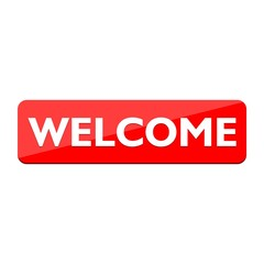Red Welcome sign